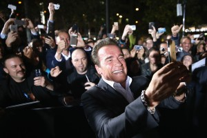 ZURICH, SWITZERLAND - SEPTEMBER 30:  Actor Arnold Schwarzenegger attends the 'Maggie' Premiere and Golden Icon Award Ceremony during the Zurich Film Festival on September 30, 2015 in Zurich, Switzerland. The 11th Zurich Film Festival will take place from September 23 until October 4.  (Photo by Andreas Rentz/Getty Images) *** Local Caption *** Arnold Schwarzenegger